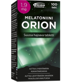 MELATONIINI ORION 1,9 MG   100 KPL
