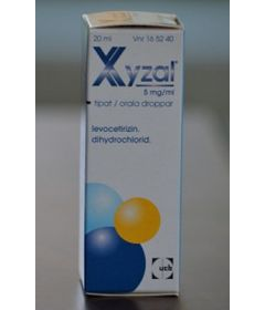 XYZAL 5 mg/ml tipat, liuos 20 ml
