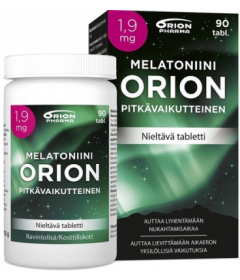 MELATONIINI ORION 1,9 MG PITKÄVAIK.   90 TABL